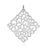Sterling Silver Oaxacan Flower Pendant without Chain