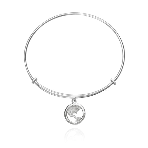 Moda Capital Adjustable Bracelet with World Charm
