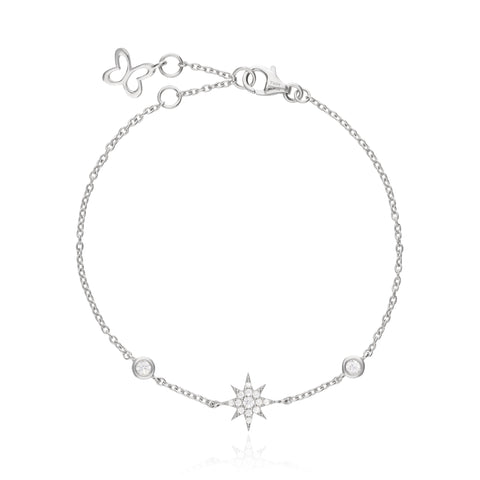 Stars Bracelet with Zirconia Pave
