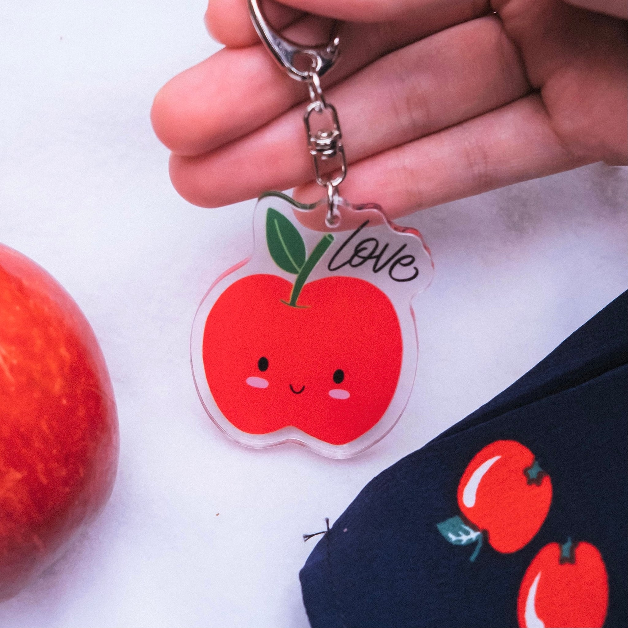 Love (Apple) | Acrylic Keychain