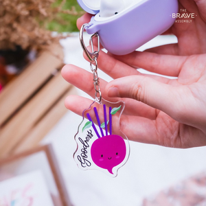 Goodness (Beetroot) | Acrylic Keychain