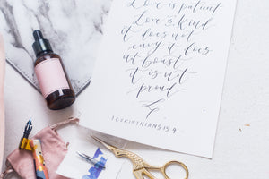 Customised Modern Calligraphy