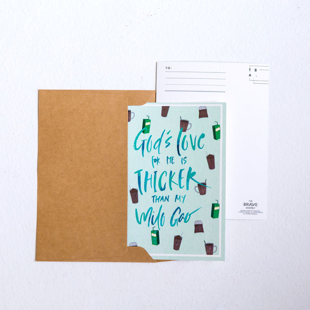 God's Love is so Thick / Postcard