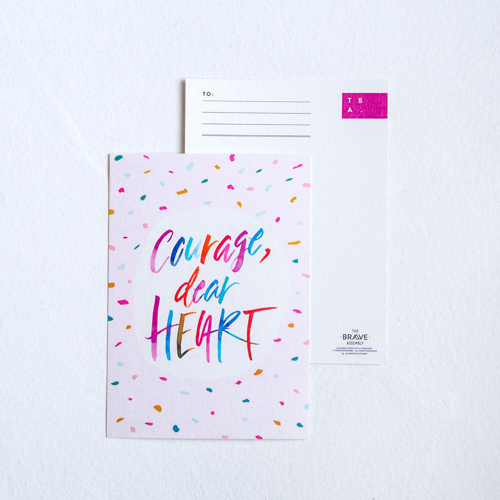 Courage, Dear Heart / Postcard