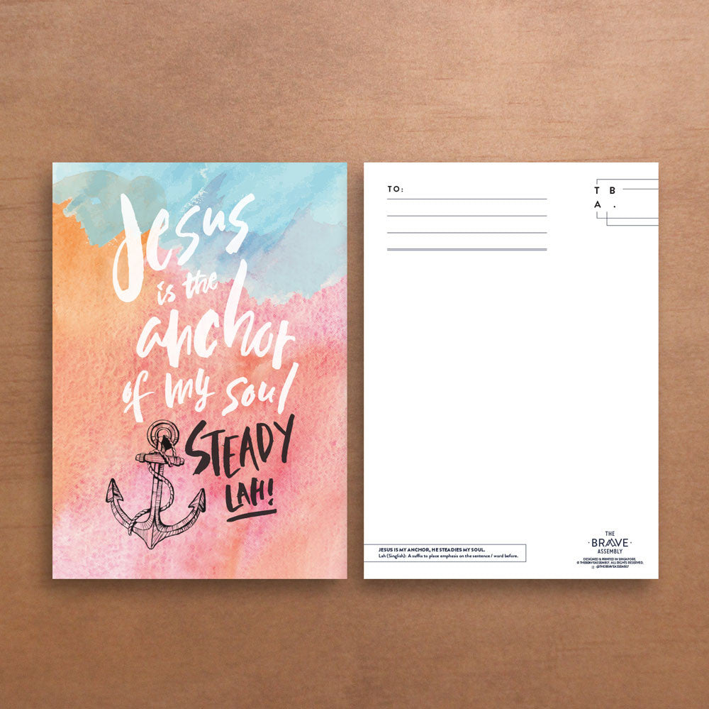 Jesus is my Anchor / Postcard