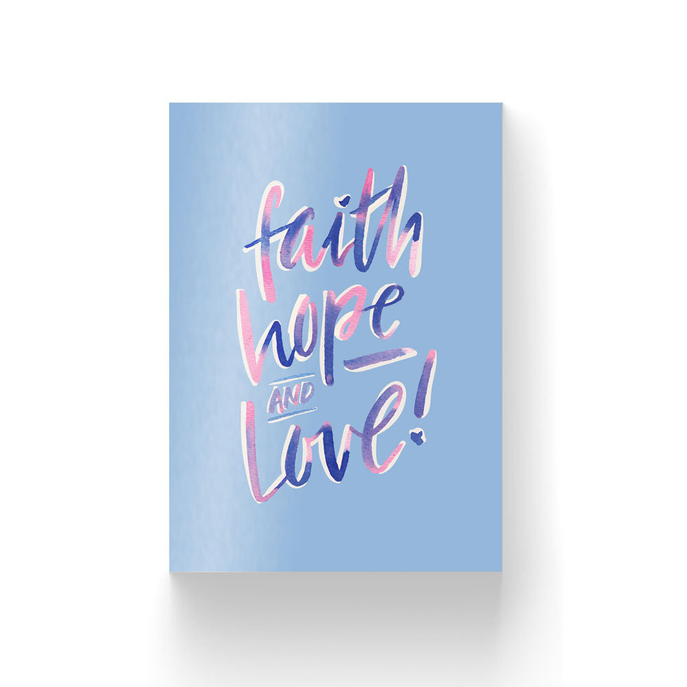 Faith Hope Love / Postcard