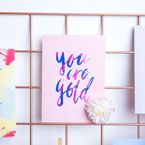 You are Gold / Postcard