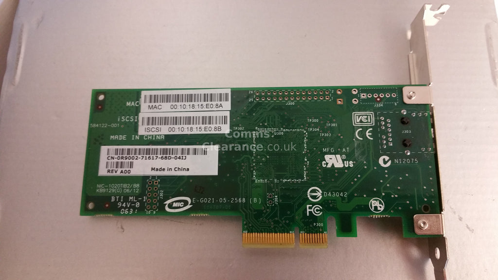 DELL 173G/ R9002 10/100/1000 Gigabit PCi-E Network Card NIC1020TIB2/B8