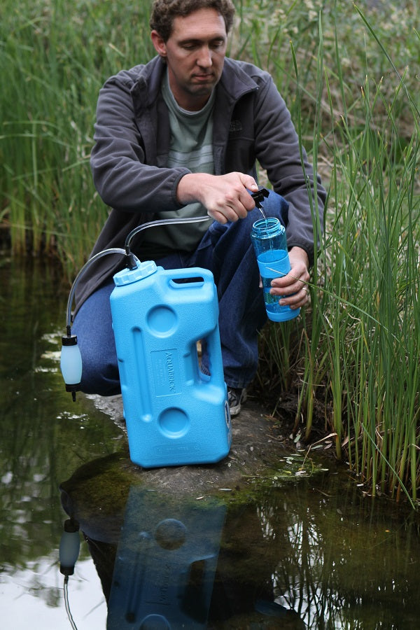 AquaBrick Water Filtration System Filters Flood Water into Clean Drinking Water