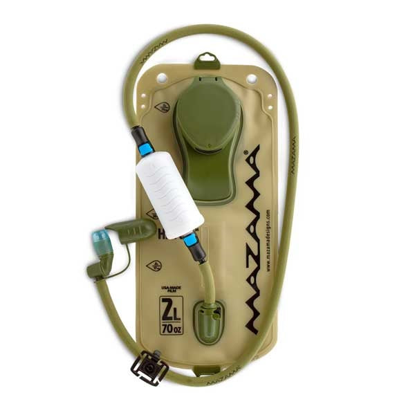 Inline water filter for hydration packs