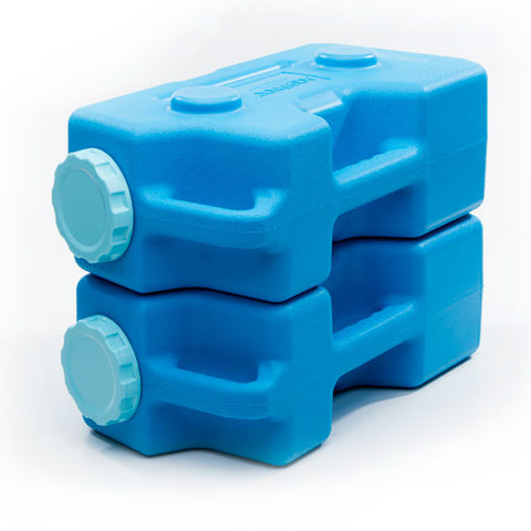 AquaBrick Water Storage Containers are also great as Food Storage Containers and can be stacked and configured to fit any emergency storage area.