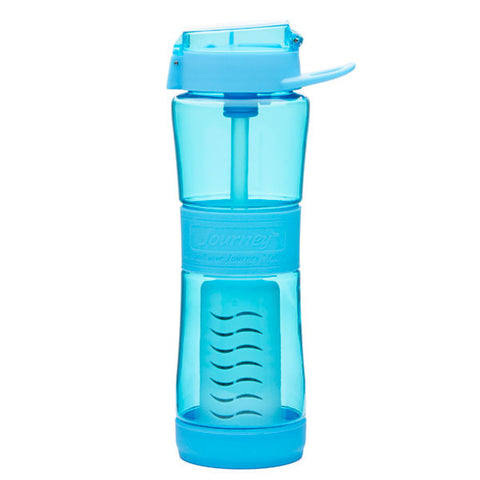 The Journey Water Bottle with Filter is a water bottle filter which filters any non salt water source into clean drinking water.
