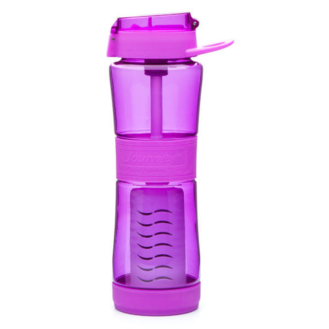 The Journey Water Bottle with Filter uses new clean water technology to provide a filter water bottle you can take anywhere.  This water filter bottle filters any non salt water source into safe drinking water.