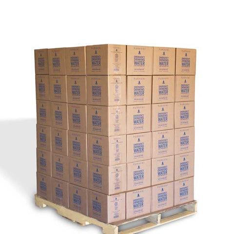 Puravai Emergency Drinking Water - Pallet quantity - 792 1L bottles
