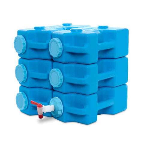 AquaBrick Container - 6 pack With Spigot