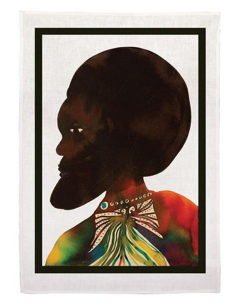 Chris Ofili, Afromuses Couple (Man), Tea Towel