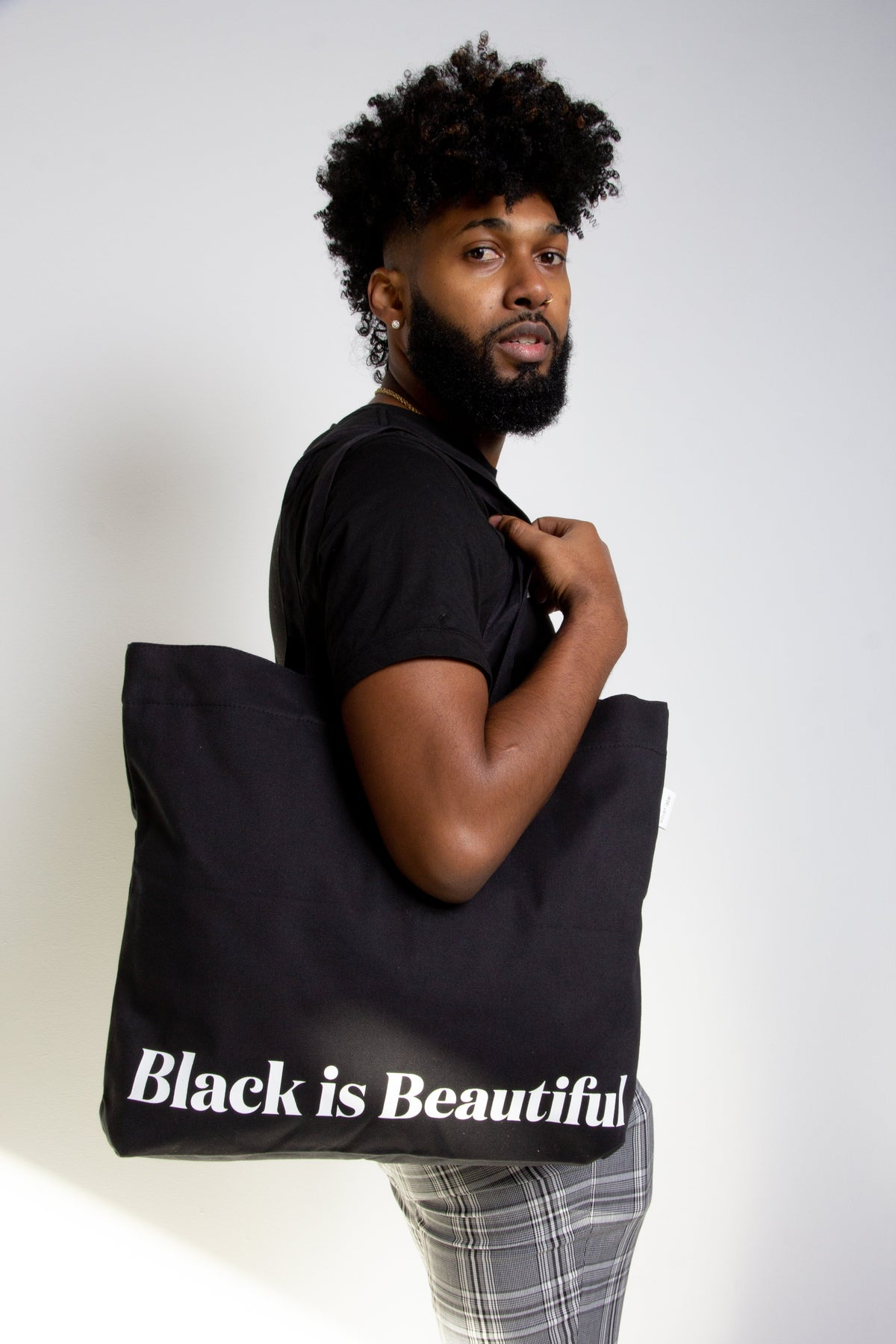 Black is Beautiful, Large Tote Bag