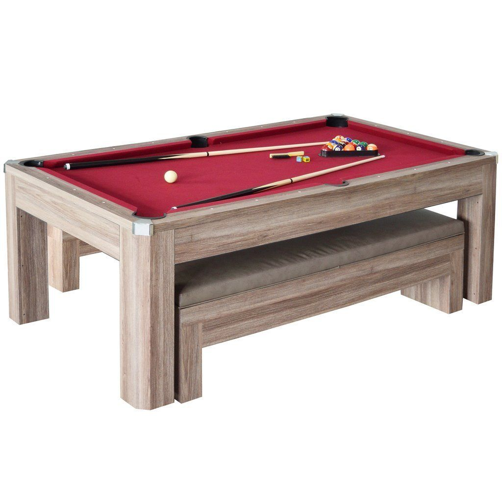 ... Carmelli Billiards Newport 7 Ft Pool Table Combo Set W/ Benches    Luxury And ...