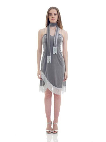 OBSIDIA-VELOUTE-Fringe_It_Dress-Gris_Silver-Front1
