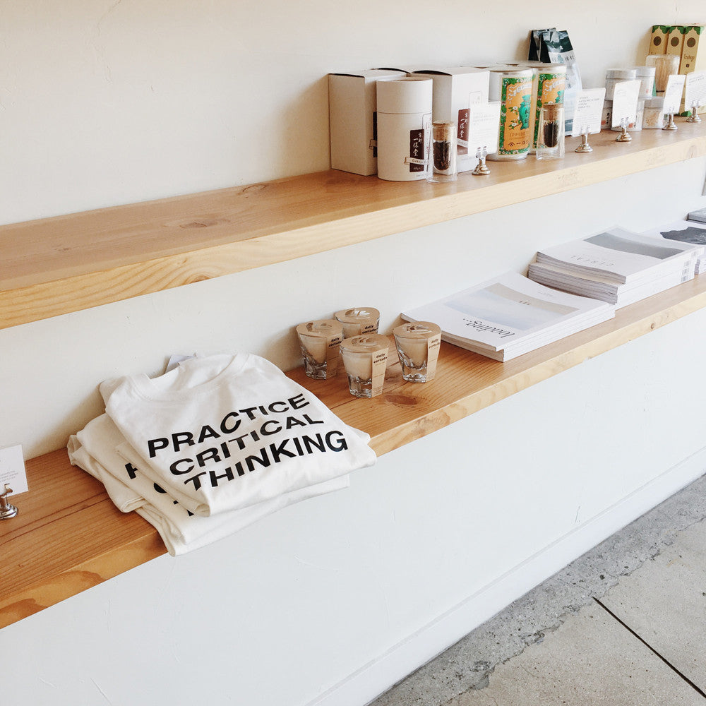 Practice Critical Thinking T-Shirt - All proceeds to ACLU @ Eightfold Coffee