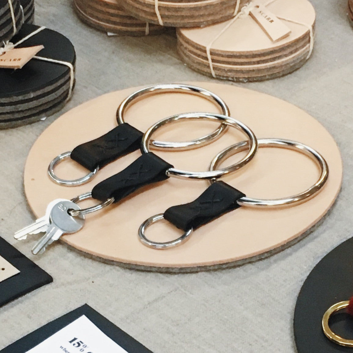 2016: Leather Bangle Keychain
