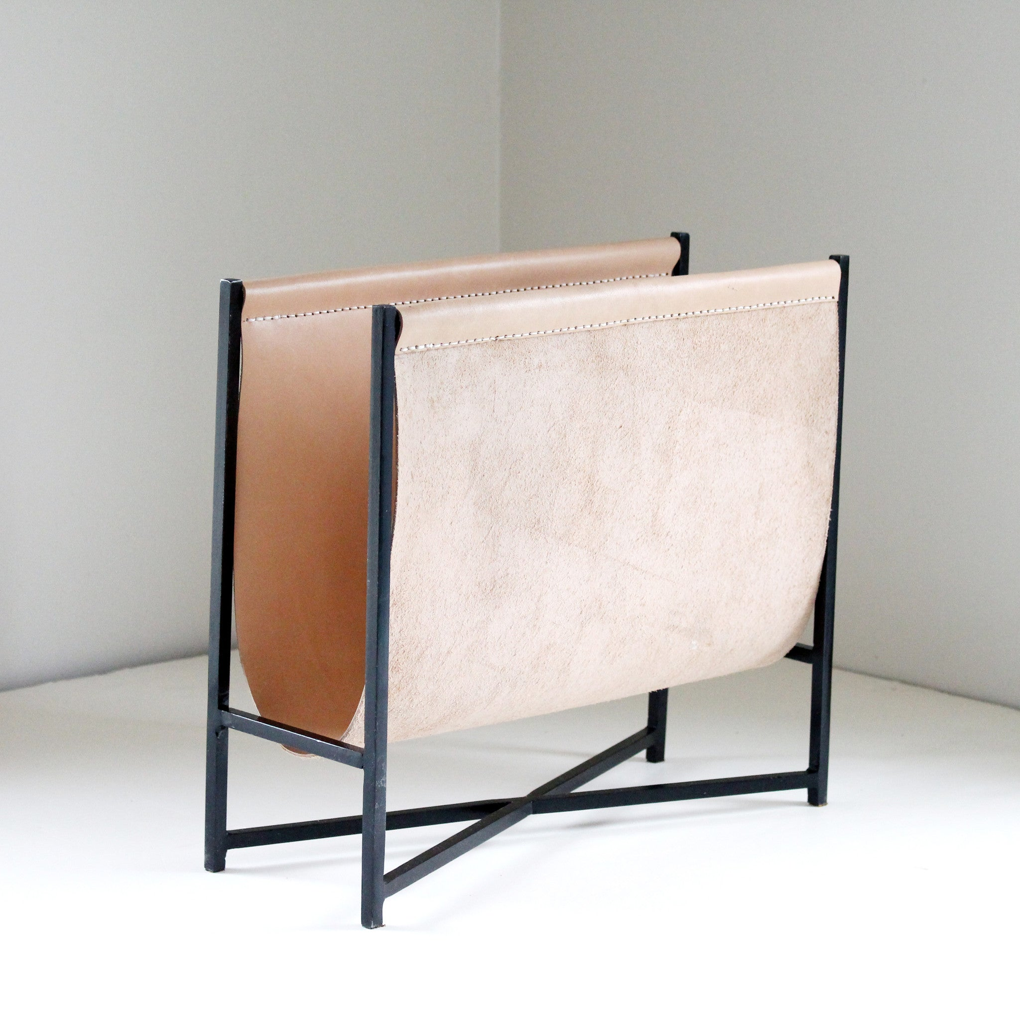 2016: Leather & Steel Magazine/Firewood Rack | In Natural or Black