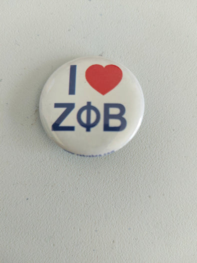 I Love Zeta Phi Beta Button