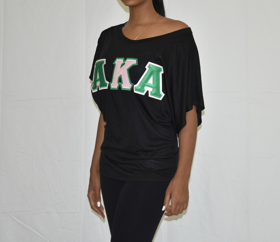 AKA Dolman Sleeve with Twill Letters