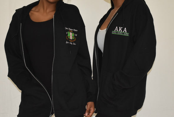 AKA Zippered Hoodie (right)