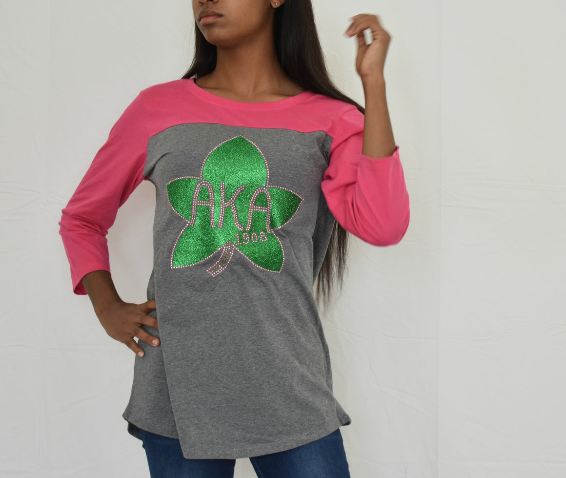 AKA Raglan T-shirt with Ivy