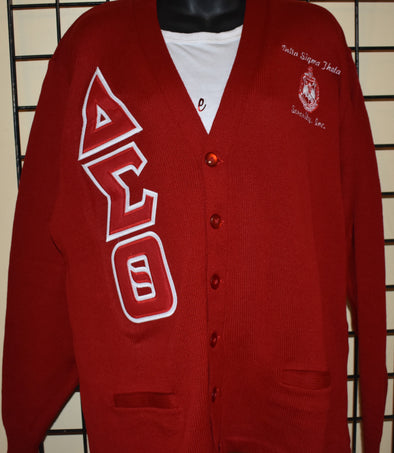 DST Cardigan Red (Twill Letters)