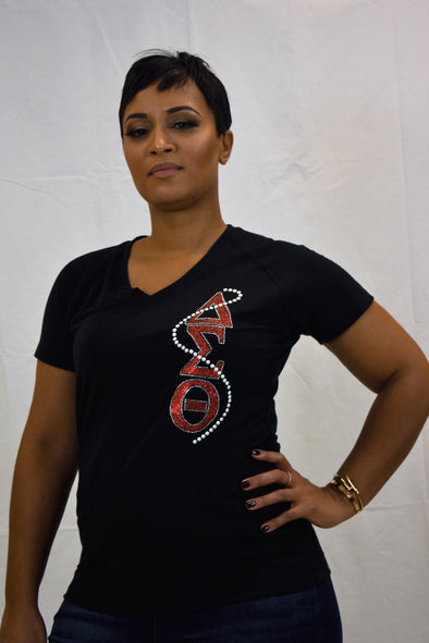 DST Signature Pearl V- Neck T-shirt