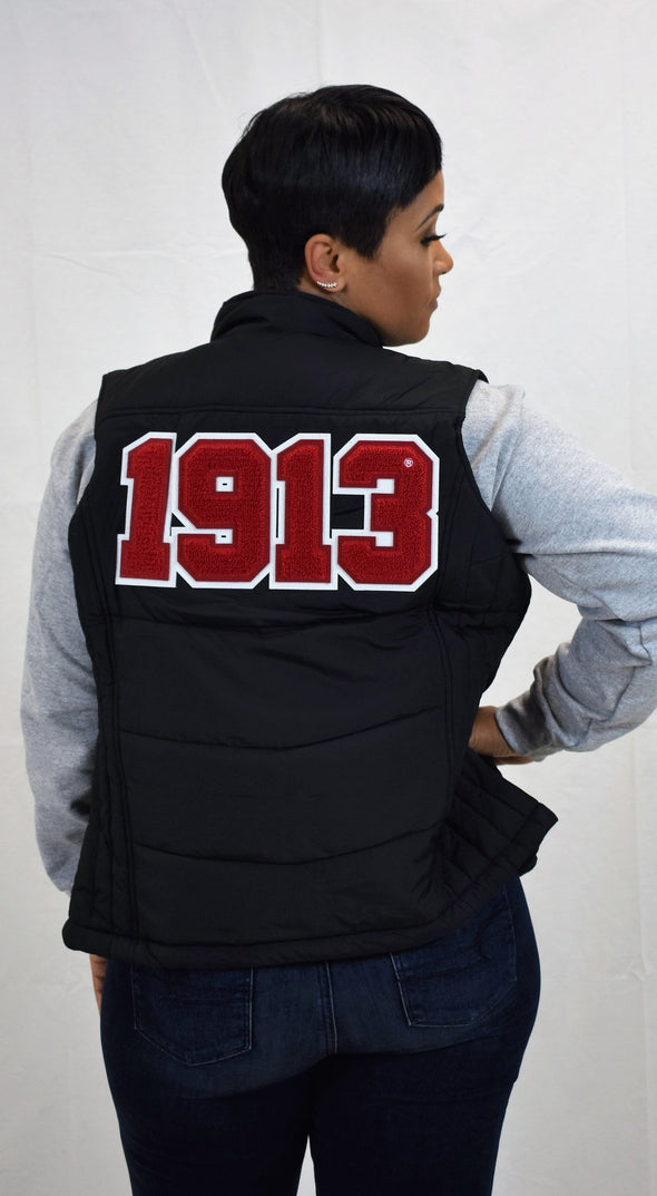 DST Puffy Vest - Chenille Year on Back