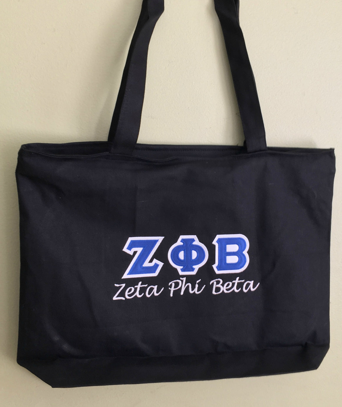 Zeta Zippered Tote Bag