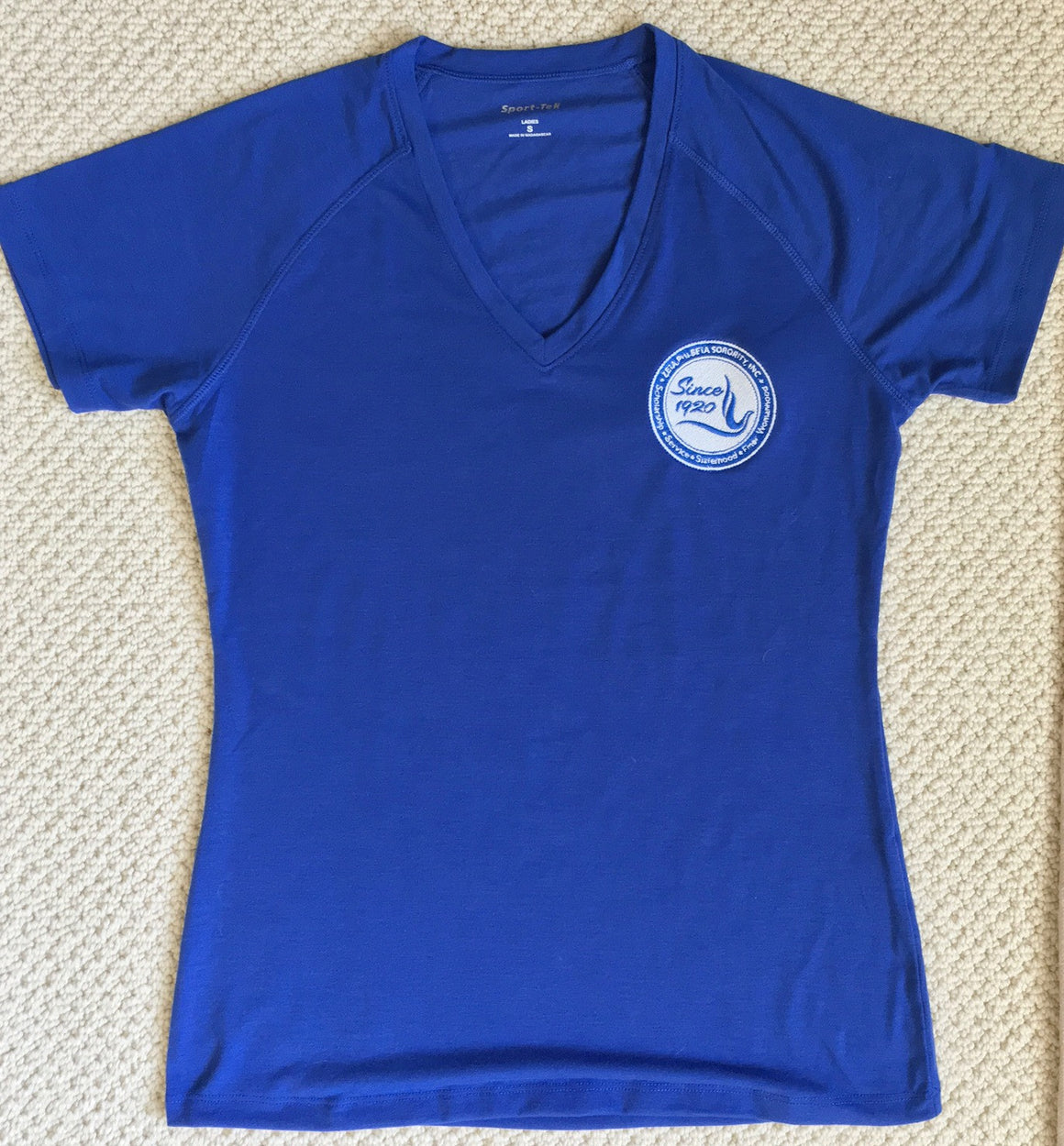 Zeta Ladies V Neck Tee