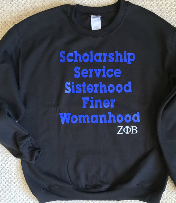 Zeta Sisterhood Sweatshirt