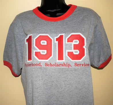DST Ringer 1913 Grey and Red