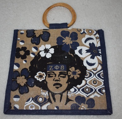 Zeta Painted Jute Bag
