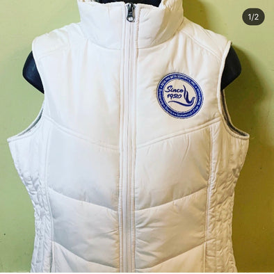 Zeta Puffy Vest - Chenille Year on Back