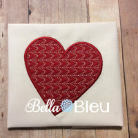 Valentine Motif heart applique machine embroidery design