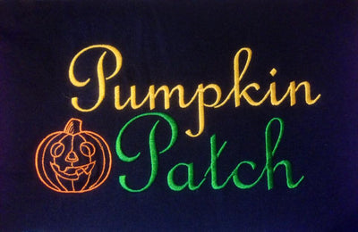 Halloween Pumpkin Patch Applique Embroidery Design Halloween