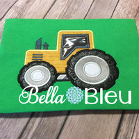 Farm Tractor Machine Applique Embroidery design