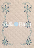 Beautiful Snowflake Winter snow monogram frame machine embroidery design
