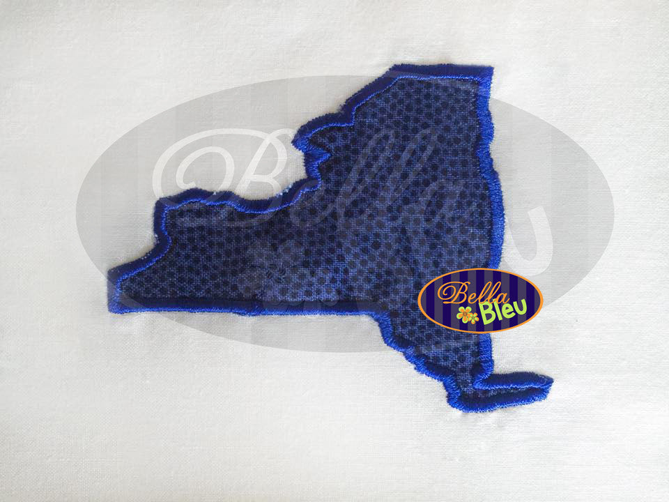 New York State Applique Embroidery Design Monogram