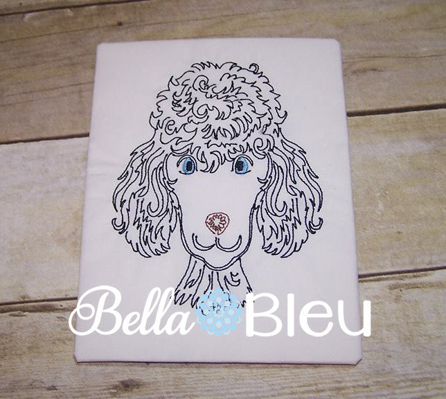 Standard Poodle Colorwork Embroidery Design