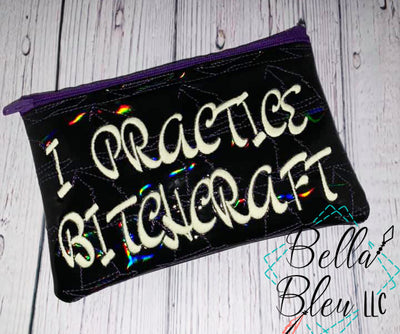 ITH I practice Bitchcraft Witch stipple Zipper bag Wallet