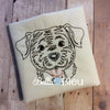 Chocolate or Yellow Lab Dog quick stitch Colorwork Redwork machine embroidery design