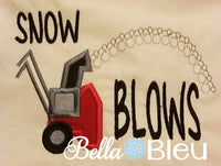 Snow Blows Snow Blower Machine Applique Embroidery Design