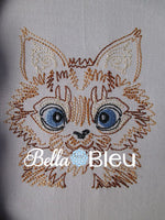 Kitty Cat #2 machine embroidery design