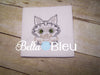 Kitty Cat #4 Adorable Colorwork Machine Embroidery Design